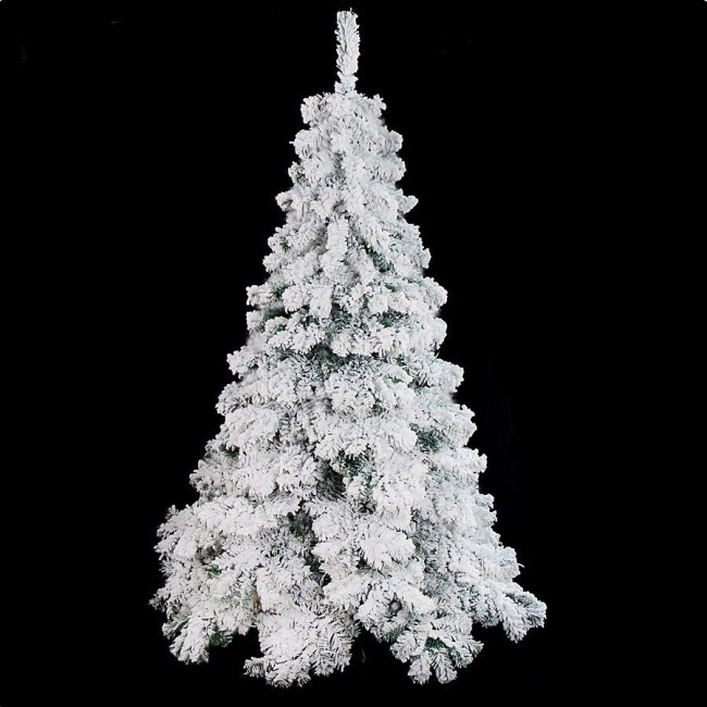 Luxurious Christmas Trees: Luxury 1.8m 6ft Flocking Christmas Tree