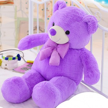 Weedoo Huge Size/Big /Purple Australian Lavender Cuddly Bear With Bow Tie XMAS Gift & Soft Toy UK Stock