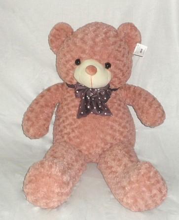 Weedoo Huge/Very Large 5kg Pink Kahaki Teddy Bear With Bow Tie, XMAS Gift PK& uk stock