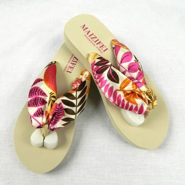 Weedoo New Ladies/Women's/Kids Flip Flop Leaves Bohemian Style Female Sandal