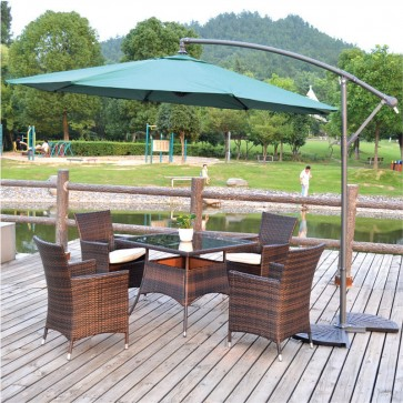 Weedoo 5 Unit Garden Furniture Set - Coffee 1 Table and 4 Chairs
