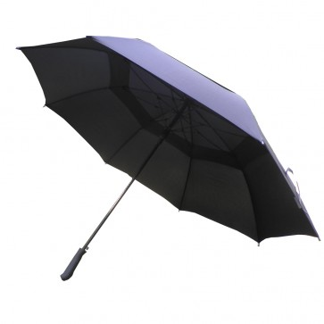 "Weedoo 54"" Double Canopy Windproof Black Stick Golf and Fishing Umbrella"