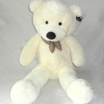 Weedoo New Year/Birthday Gift: Big/Giant White Plush Soft Teddy Bear with Bow tie