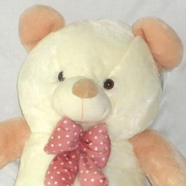 Weedoo Xmas/Birthday Gift Sale: Giant Soft Plush White/Gold Plush Teddy Bear with Bow tie