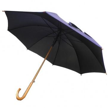 """Weedoo 42"""" (107CM) Classic Black Wooden Handle Umbrella"""