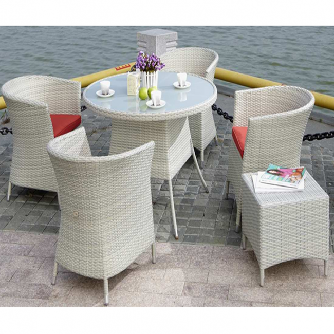 Weedoo 6 Unit Outdoor Garden Patio Wicker Rattan Effect Furniture Table Chairs Set  sc 1 st  Mega Direct UK & Wicker First Style Garden Furniture Set
