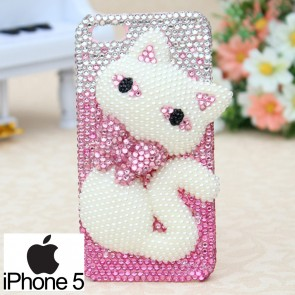 Weedoo 3D Diamond Crystal Bling Hello Kitty Case for iPhone 6 Luxury Christmas Present