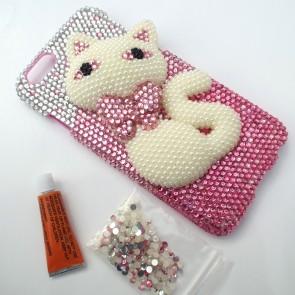 Weedoo 3D Diamond Crystal  Bling Kitten Hard Case for iPhone 6 Luxury Christmas Present