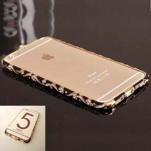 Weedoo Crystal Rhinestone Cloisonne Diamond Metal Bumper Frame Case iPhone 6 xmas stock (Multiple Colours)