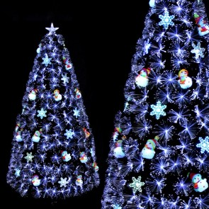 Weedoo XMAS SALE: 6FT Fiber optic Artificial Luxury Christmas Tree pvc