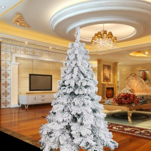 Weedoo XMAS SALE: 6FT Flocking Artificial Luxury Christmas Tree pvc