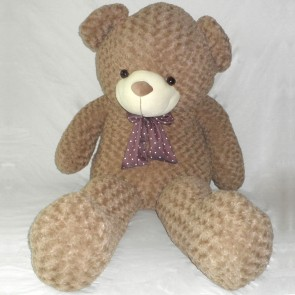 Weedoo Giant/Big Light Brown Pattern Plush Soft Dark Kahaki Teddy Bear in Bowtie in Xmas Gift