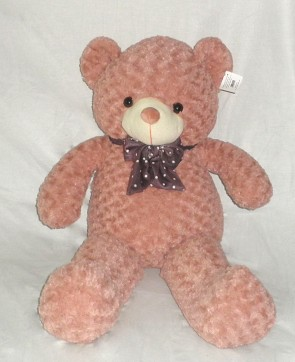Weedoo Huge/Very Large 5kg Pink Kahaki Teddy Bear With Bow Tie, XMAS Gift PK& uk stock