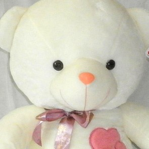 Weedoo New Year/Birthday Gift: Big/Giant White Plush Soft Teddy Bear with Bow tie Love