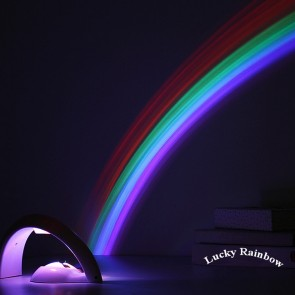 Weedoo Lucky Rainbow LED Projector Lamp Night Light Children Bedroom / Romantic Decor