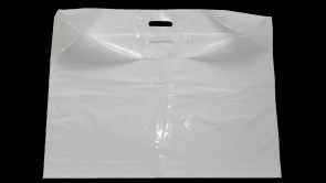 "Extra Large  29""x22"" Strong White Patch Handle Plastic Carrier Bags"