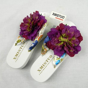 Weedoo New Ladies/Women's/Kids Flip Flop XMISTUO White Flat Sandal with Flowers