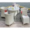 Weedoo 6 Unit Outdoor Garden Patio Wicker Rattan Effect Furniture Table Chairs Set