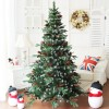 1Weedoo XMAS SALE: .8m/6ft Smurf Berries Pine Cones Frosted Snow Tip Red Fruits Artificial Luxury Christmas Tree pvc